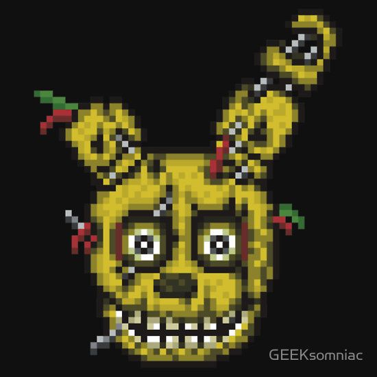 Five Nights At Freddy S 3 Pixel Art Springtrap Baby One