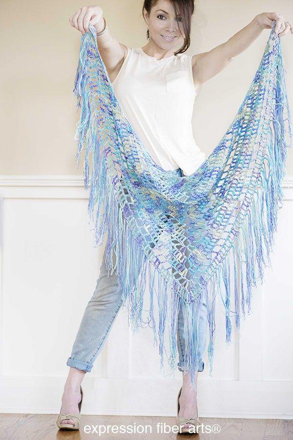 15 Free Triangular Shawl Crochet Patterns Inklings And Tea