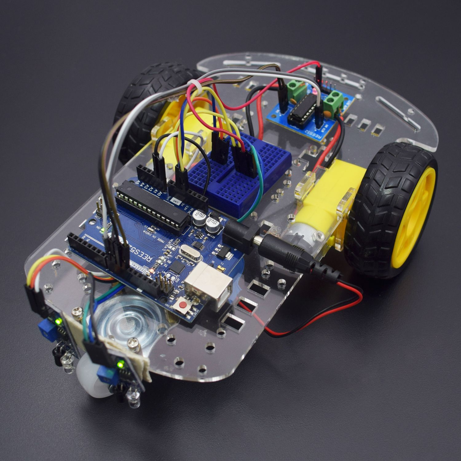 Make A Line Follower Robot Using L293d Motor Driver Module On Interfacing With Arduino Uno Kt682
