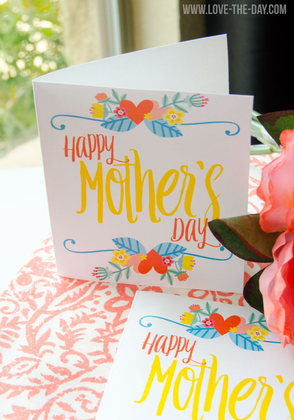 Free printable mothers day card by love the day mothers