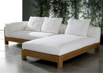 Minotti Alison Iroko Sectional Sofa Modern Outdoor Sofas Outdoor Furniture Sofa Terrace Furniture Wooden Sofa Designs