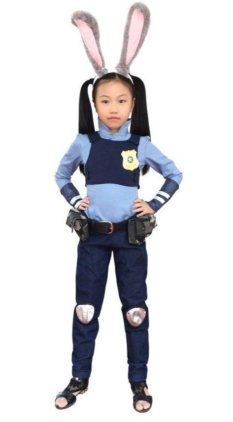 dazcos child police rabbit judy hopps costume - Kids Disney Halloween Costumes