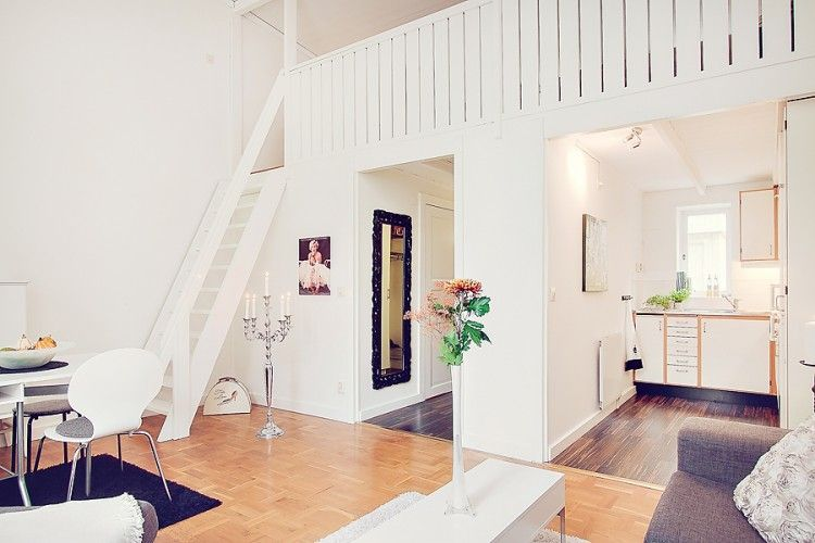 small and cozy one room apartment in sweden | home/spaces