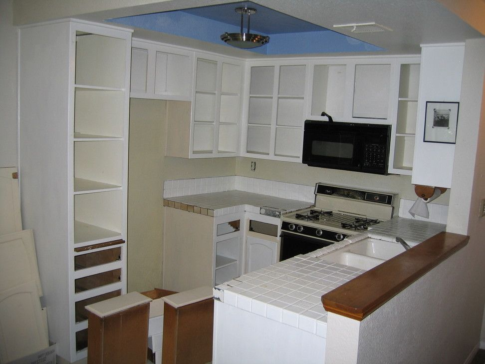 Quality White Small Kitchen Remodel Ideas Perfect Arrangment In White  Themed For Cabinetry And Countertop