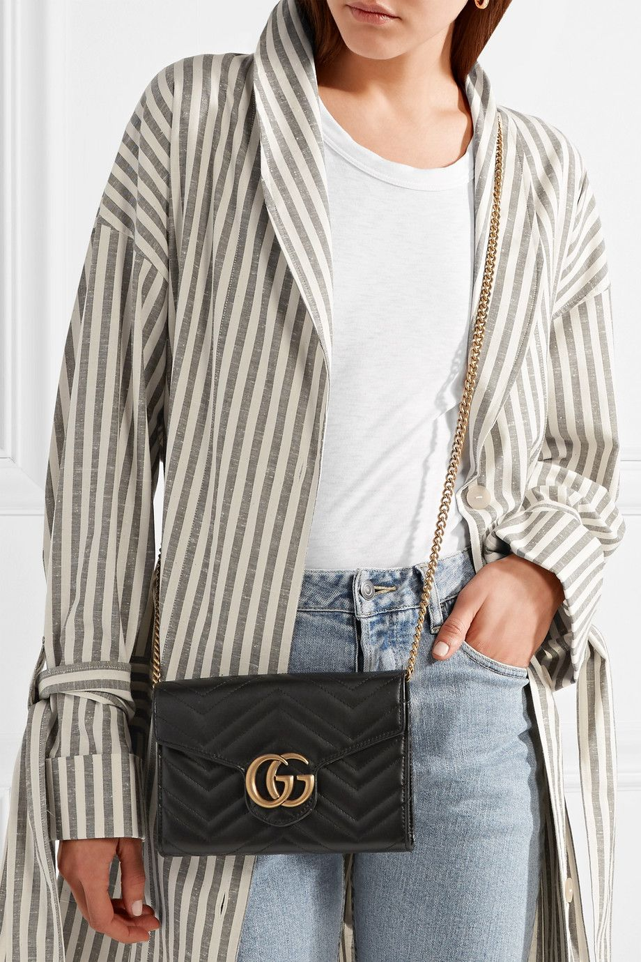 a7ad38e9bb55 GG Marmont mini quilted leather shoulder bag #fashion #pandafashion #clutch  #gucci