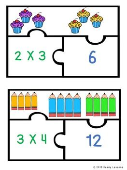 Equal Groups Multiplication Game 3rd Grade Multiplications Fact