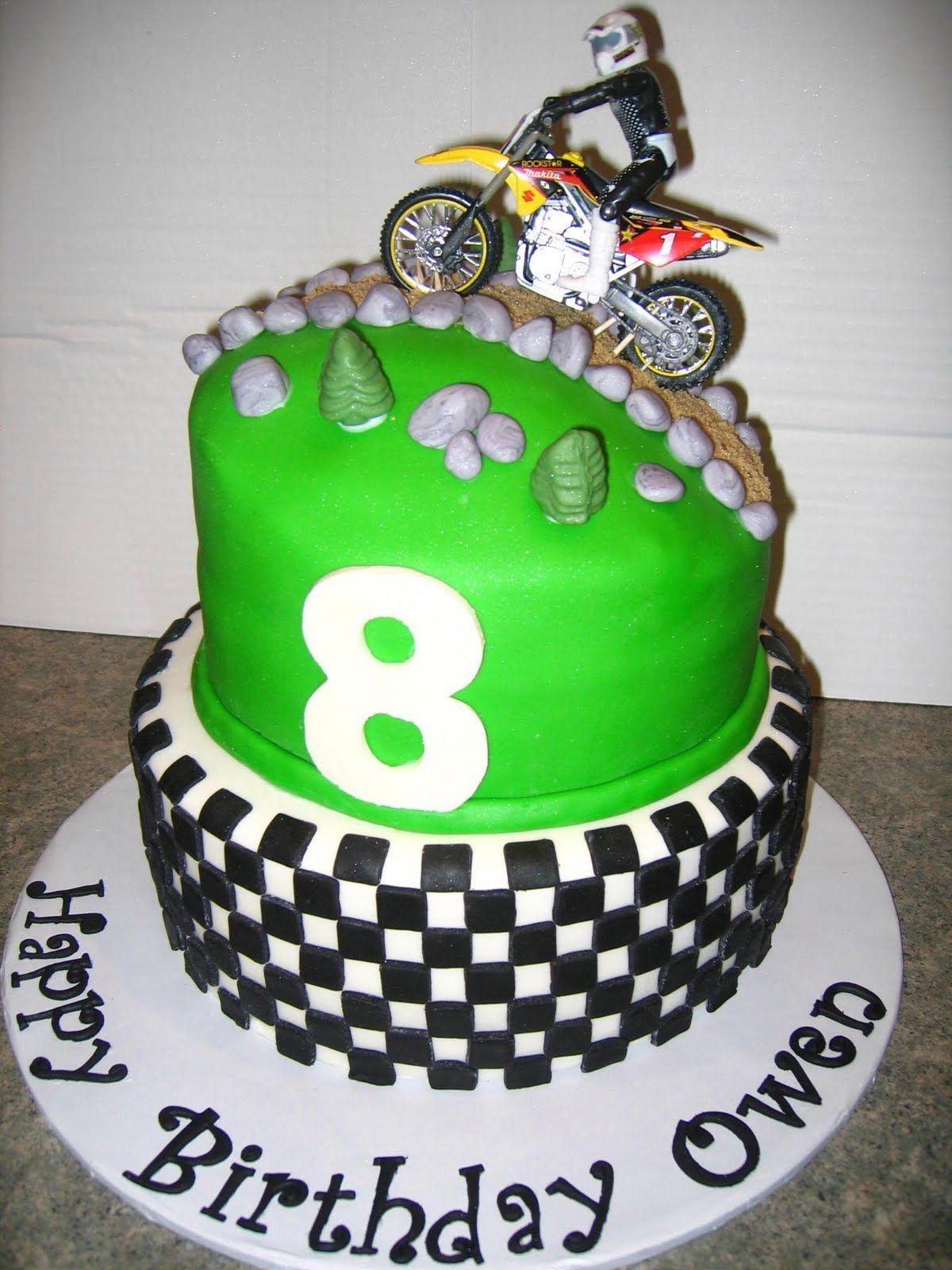 Peachy Motocross Birthday Party Dirt Bike Theme Birthday Cakes Themed Birthday Cards Printable Trancafe Filternl