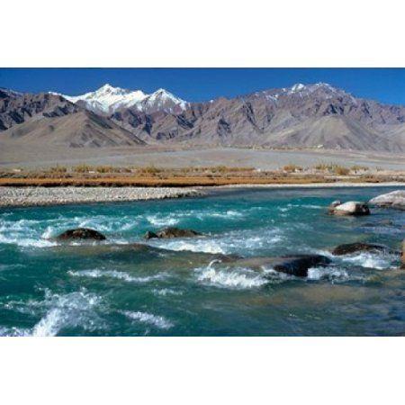 India Ladakh Indus River Himalaya range Canvas Art - Ric Ergenbright DanitaDelimont (26 x 17)
