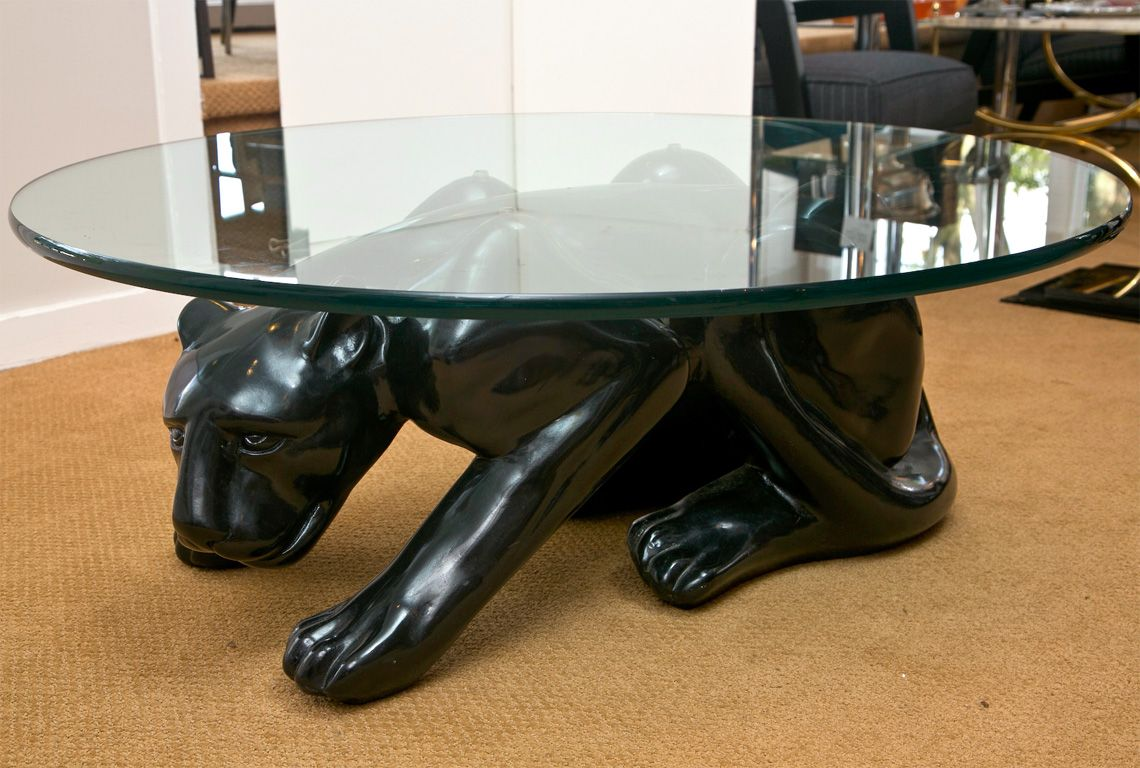 Black Panther Coffee Table Coffee Table Glass Coffee Table