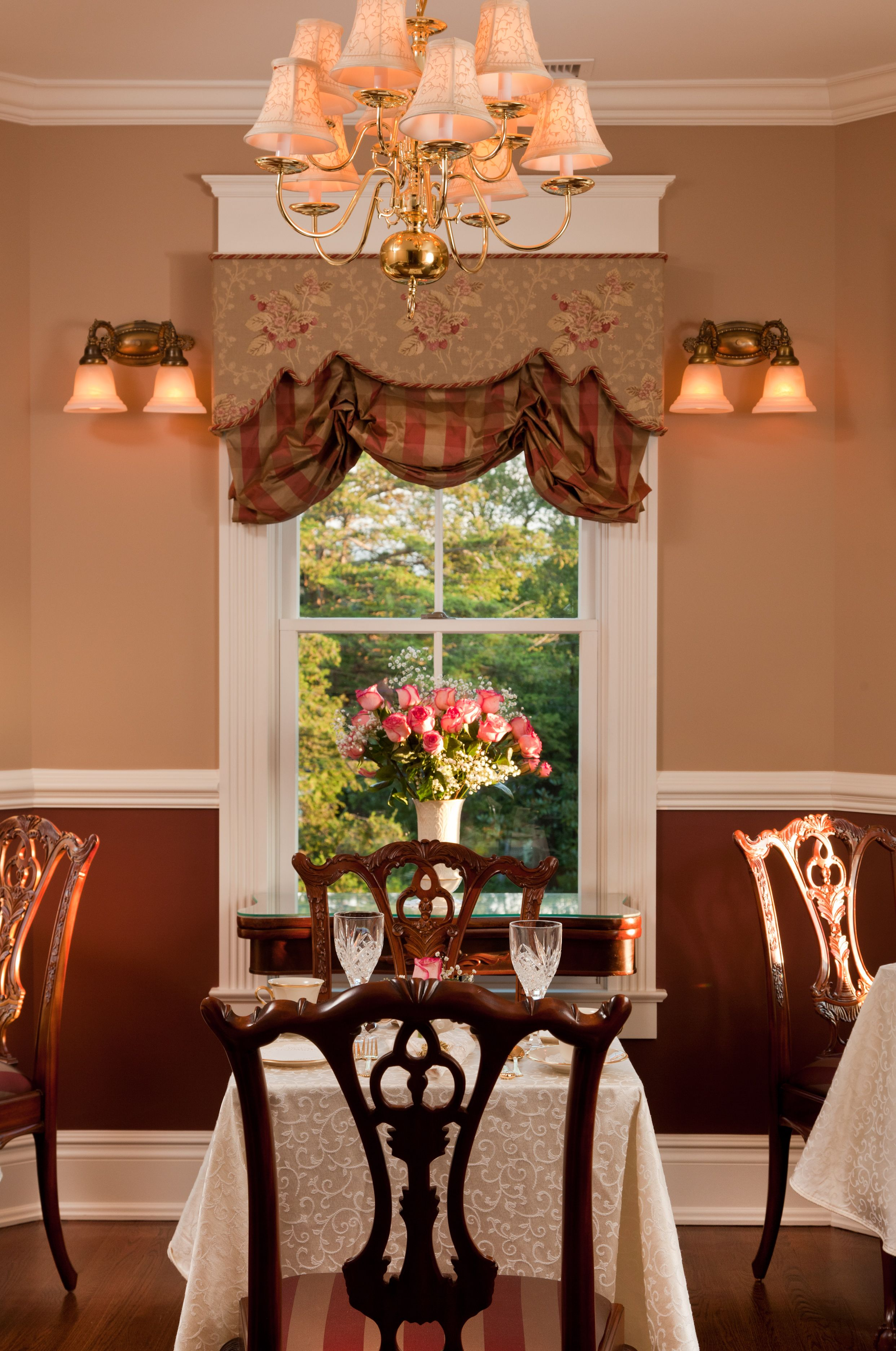 The dining room of The Tower Cottage. Point pleasant