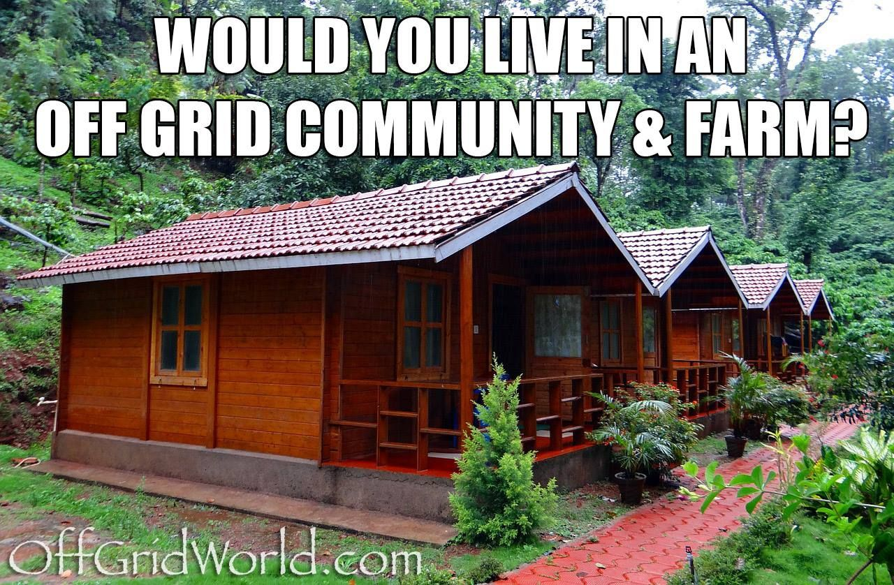 would you live in an off grid community | prepping ideas