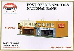 Model-Power Post Office and Bank Kit N | N Gauge railroad