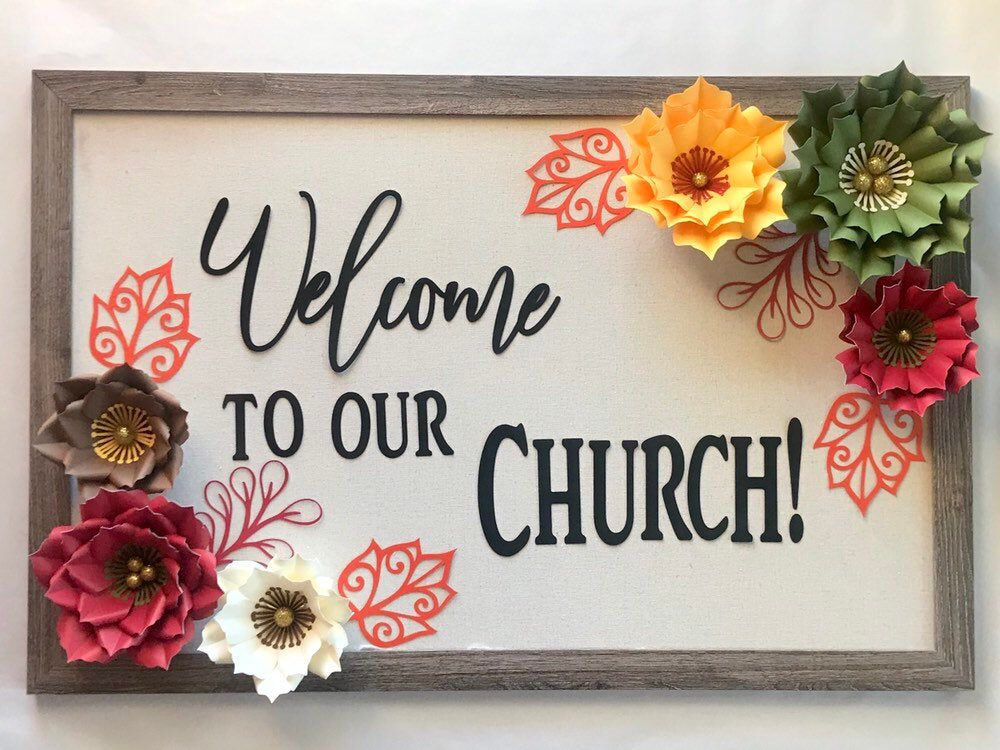 Welcome to our church bulletin board set for church sanctuary, Sunday school room, or foyer #churchitems