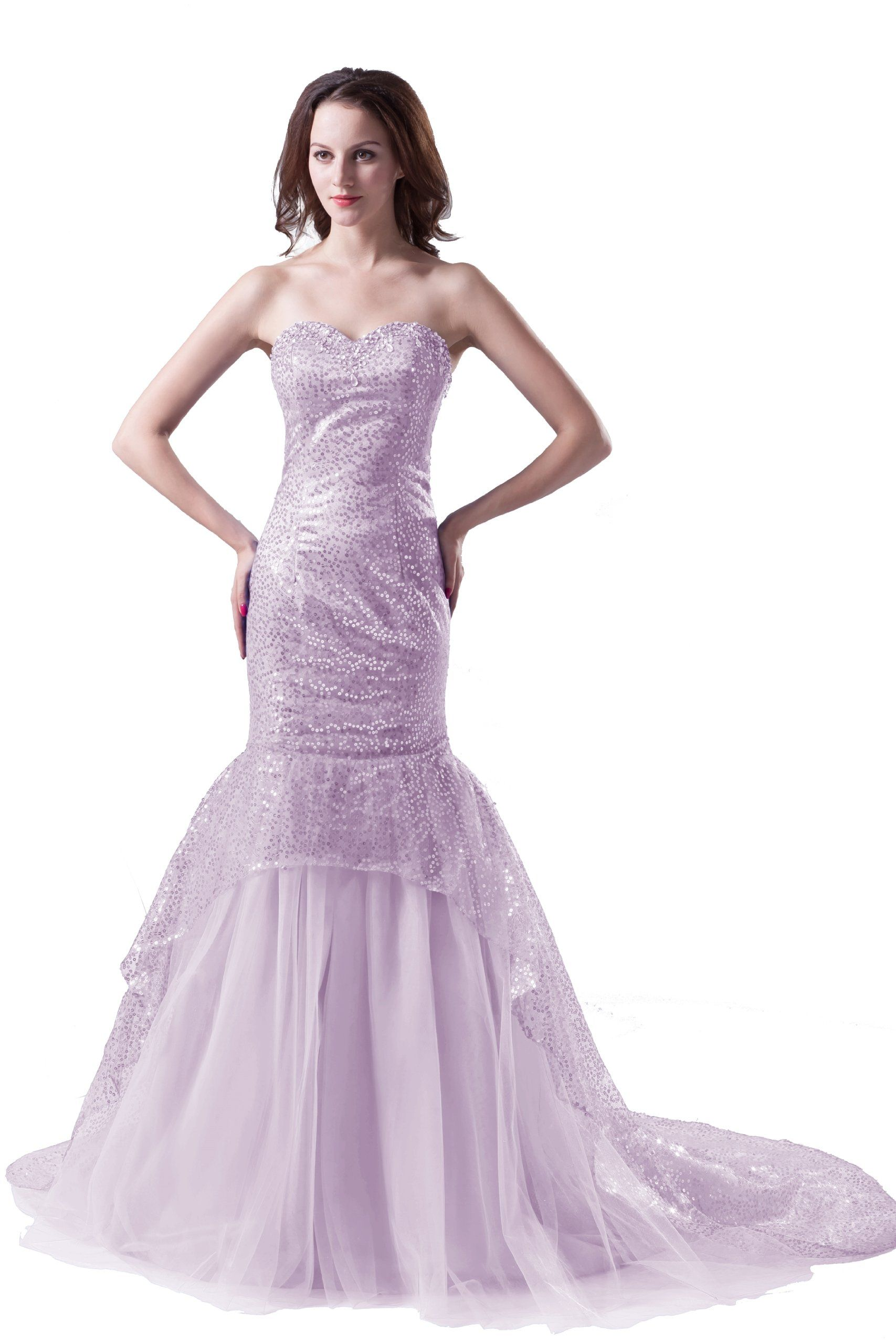 Dresstells 2013 Cheap Long Light Purple Mermaid Wedding Dress Gown Us Size 14 Light Purple Gowns Dresses Gown Wedding Dress Mermaid Formal Dress [ 2560 x 1707 Pixel ]