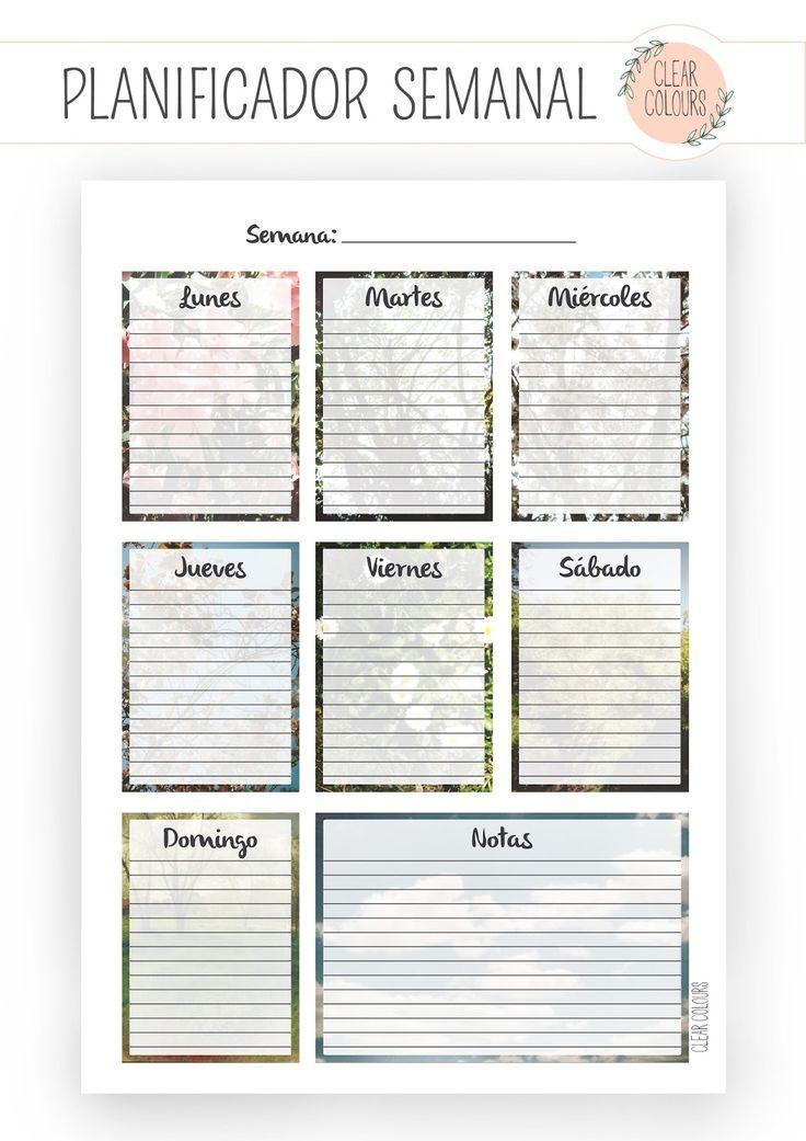 Planificador semanal para que te mantengas organizada - Planificador armarios ...