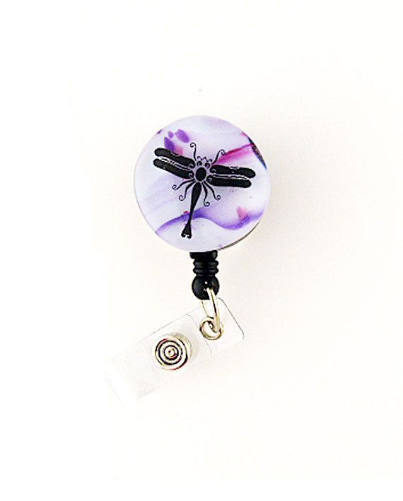 Hey, I found this really awesome Etsy listing at https://www.etsy.com/listing/260718545/lampwork-glass-badge-reel-with