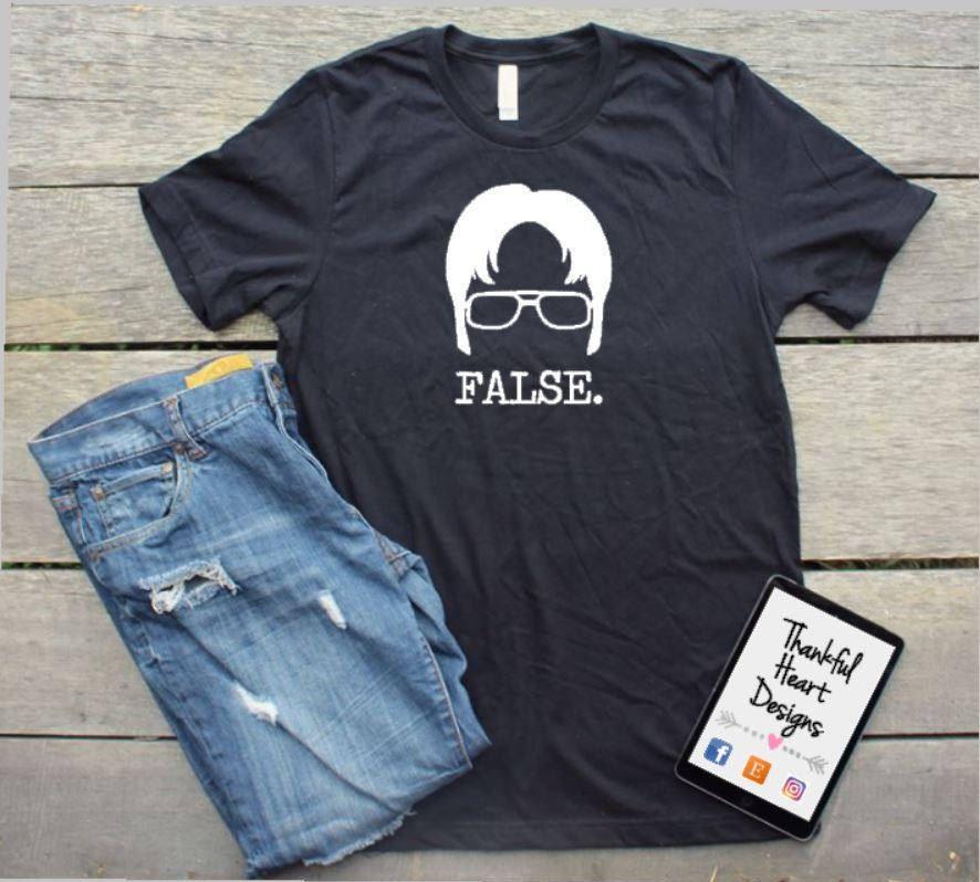 91eb119e9 Dwight Schrute Shirt, The Office Shirt, The Office TV Show, Dwight Schrute,  Michael, Dwight, Pam, Jim, Funny Office Shirt, Dwight False by ...