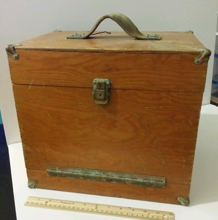 Old Wooden Tackle Box Saltwater lures vintage antique ocean