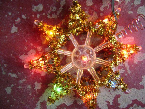 Vintage Tree Topper Star Multicolored by FrontPorchArtVintage, $12.00