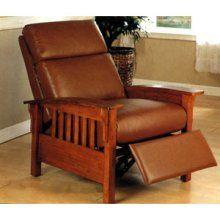 Coaster Company Top Grain Leather Club Chair Santa Fe Mission Recliner Leather Club Chairs Chair Club Chairs