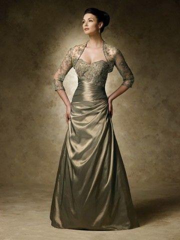 Mother Bride Dresses Metallic