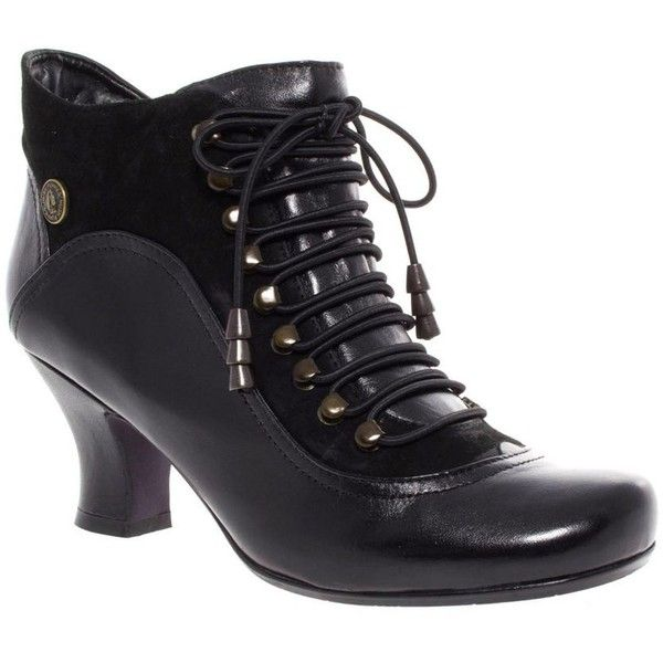 cost charm new product best sneakers Black Hush Puppies Victorian Lace Up Boot ($52) ❤ liked on ...