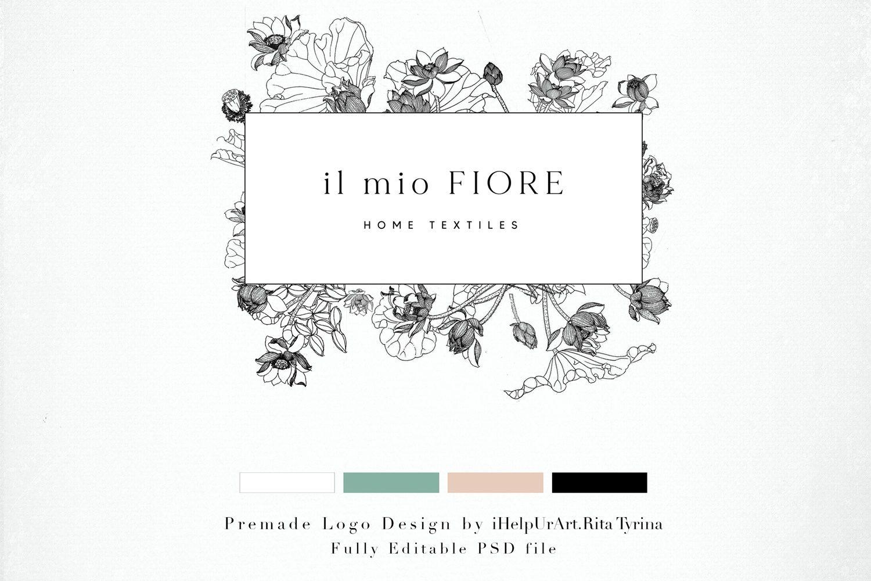 Download Floral Logo Design Diy Logo Floral Frame Logo 478793 Logos Design Bundles Floral Logo Design Floral Logo Logo Diy