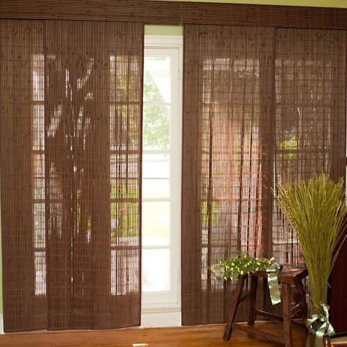 woven wood sliding panel sliding door patios and doors. Black Bedroom Furniture Sets. Home Design Ideas