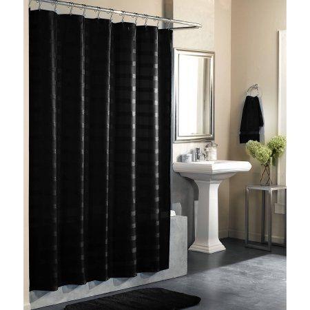 Home Black Shower Curtains Black Shower Curtains