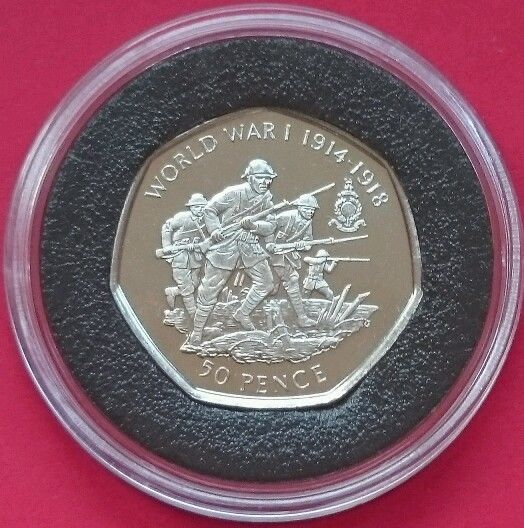 2019 GIBRALTAR 50p COIN PENCE COMMEMORATES 75TH ANNIVERSARY OF D-DAY LANDINGS