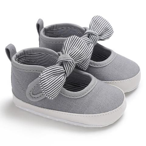 Weixinbuy Baby Girls First Walkers Cute Toddler Soft Bottom Shoes Polka Dots Bow-knot Prewalker For Kids 0-18m Mother & Kids