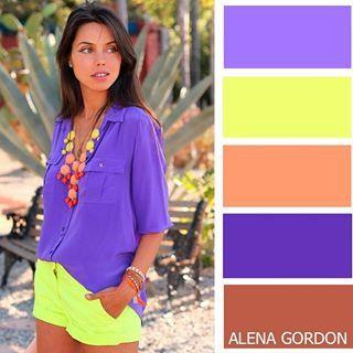 Combinar Lila Y Verde Lima Tips De Moda En 2018 Pinterest - Que-colores-combinan-con-el-lila