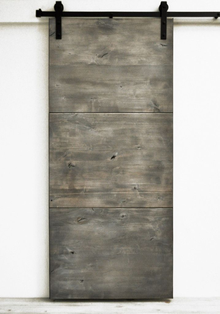 Sliding Barn Door Wood Modern Slab Silverwood 36 X 82 Hardware Included Modern Rustic Farmhouse Barn Doors Sliding Wood Doors Interior Barn Door