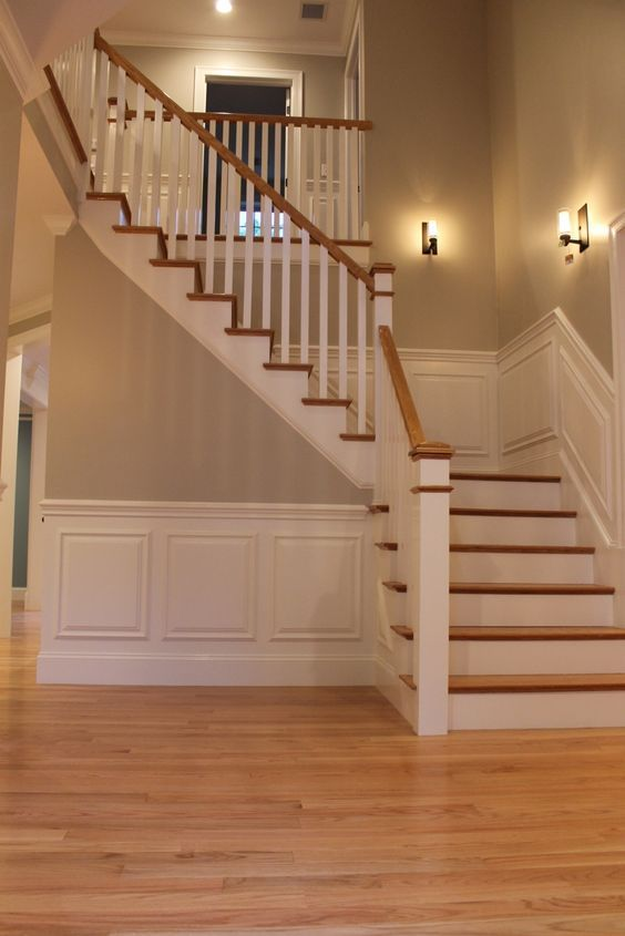 Poly Ed Red Oak Floors And Bm Revere Pewter Staircase