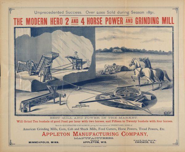 Appleton Grinding Mill Advertising Poster | Poster | Wisconsin Historical Society