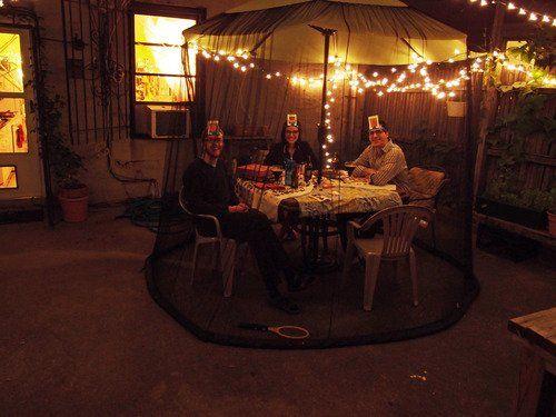 Umbrella Mosquito Net Canopy Patio Table Set Screen House   Large Premium  Netting:Amazon: