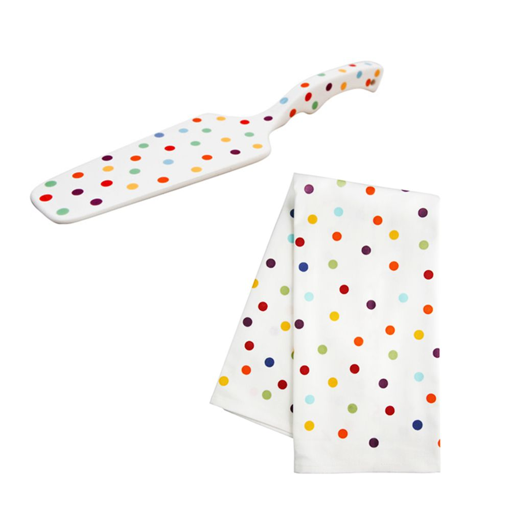Polka Dot Dish Towel & Cake Server | Dots n Spots | Pinterest | Dish ...