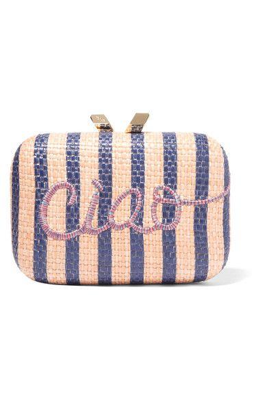 789c40fbd78 KOTUR Ciao Morley embroidered raffia box clutch. #kotur #bags #shoulder bags  #clutch #hand bags #
