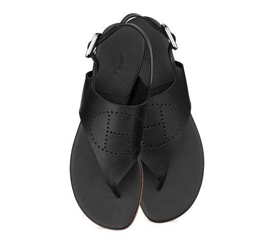 a03180ce8 Hermes Kola ladies  sandal in black calfskin