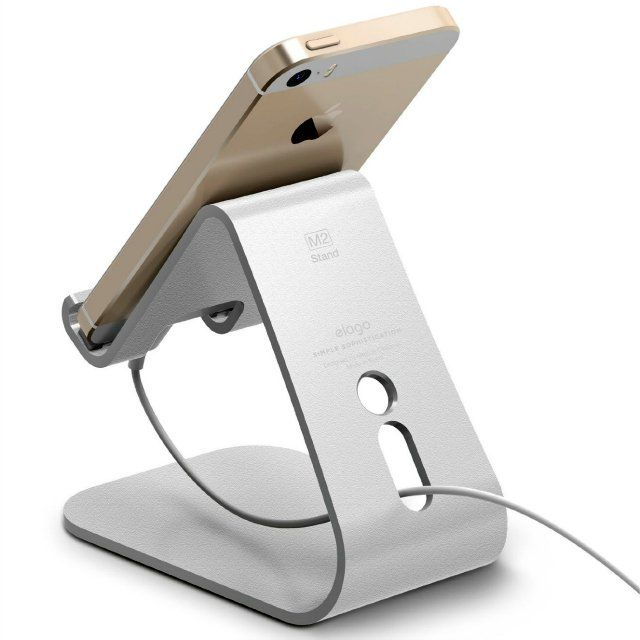 The elago M2 Mobile Stand has a solid aluminum construction designed for smart phones.…