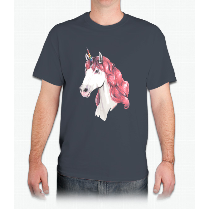 Pink Hair Unicorn - Mens T-Shirt