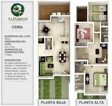 Resultado De Imagen Para Plantas Arquitectonicas En Terreno 6 X 16 Plantas De Casas Projetos De Casas Casas