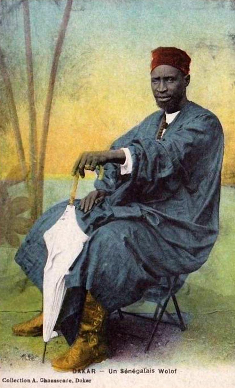 """Africa   """"Un Sénégalais Wolof""""    Vintage postcard; publisher A.Chaussende"""