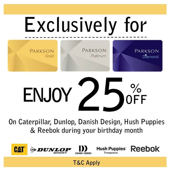 9-14 Jun 2015: Parkson Get 25% Off For Members