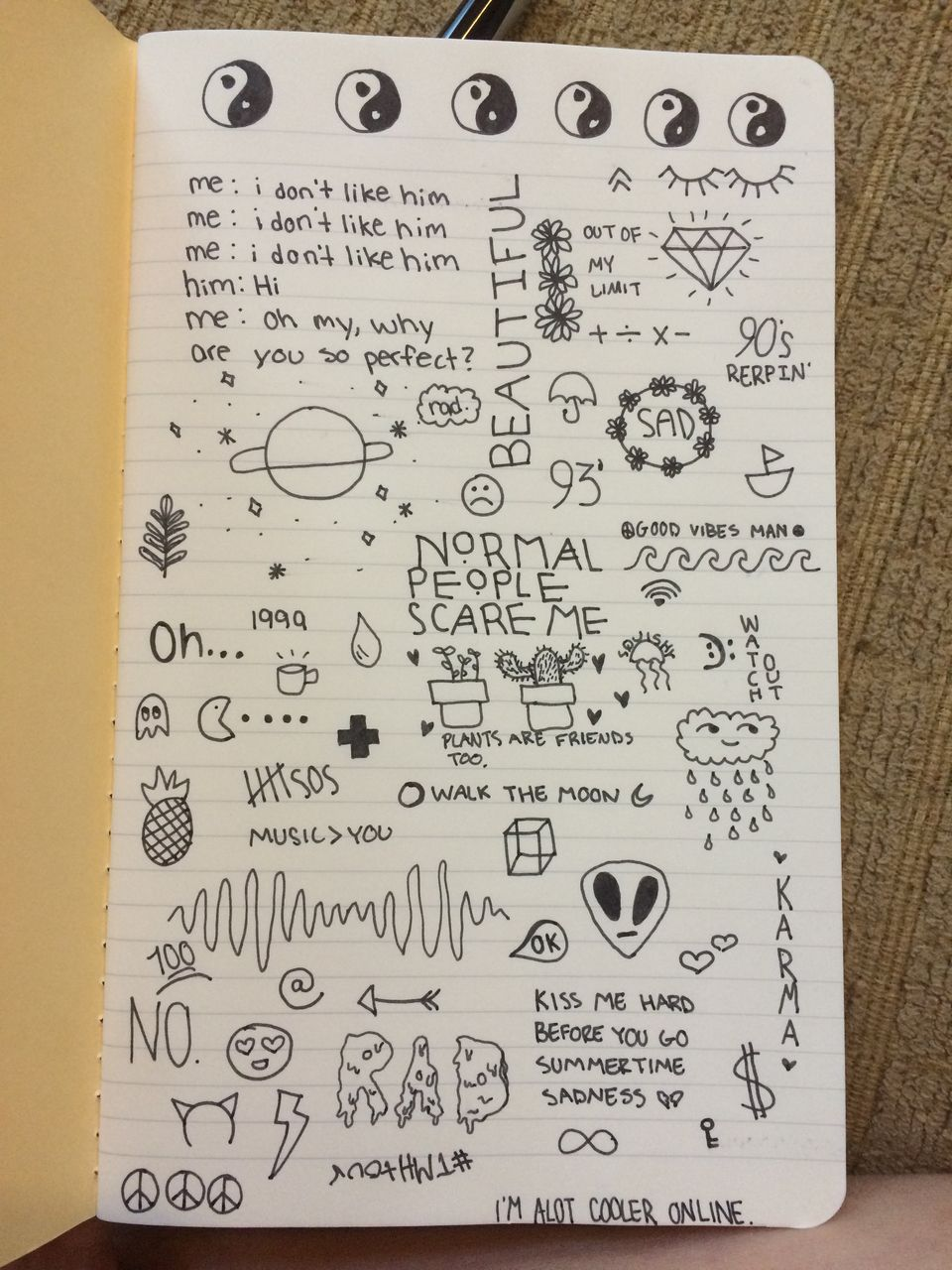 on We Heart It | cadernos | Pinterest | Doodles, Drawings ...