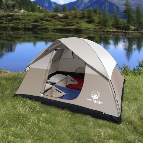 06008960bc8 4-Person Tent, Water Resistant Dome Tent for Camping With Removable Rain  Fly And