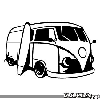 Vinilo Decorativo Vw Van Surf 02