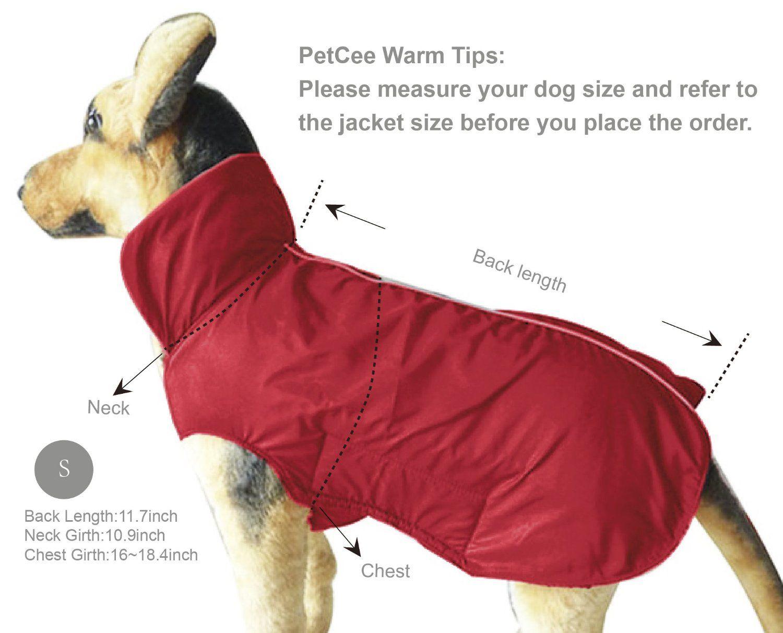 Amazon.com : PetCee Waterproof 100% Polyester- Fleece Lined Jacket Reflective Dog Jacket Loft Dog Coat Climate Changer Fleece Jacket (Black S) : Pet Supplies