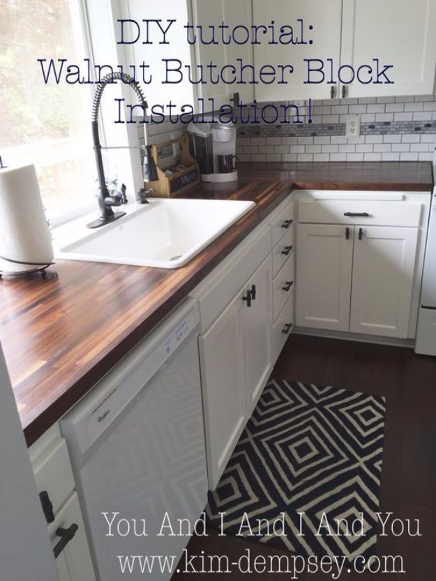 Diy home improvement projects on a budget walnut butcher block diy home improvement projects on a budget walnut butcher block installation cool home improvement hacks easy and cheap do it yourself tutorial solutioingenieria Choice Image