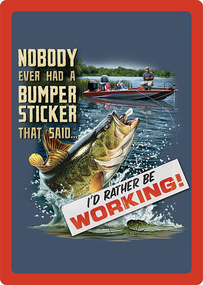 Fishin-Bumper Sticker Sign IWGAC-017-1477